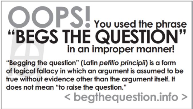 beg question card