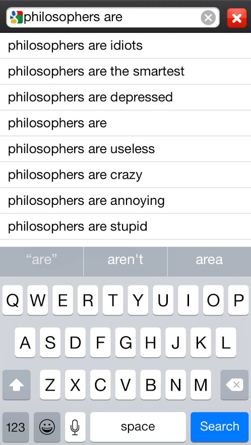 Google on Philosophers 2