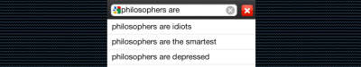 What Google Thinks People Think About Philosophers