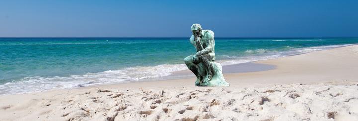beach thinker