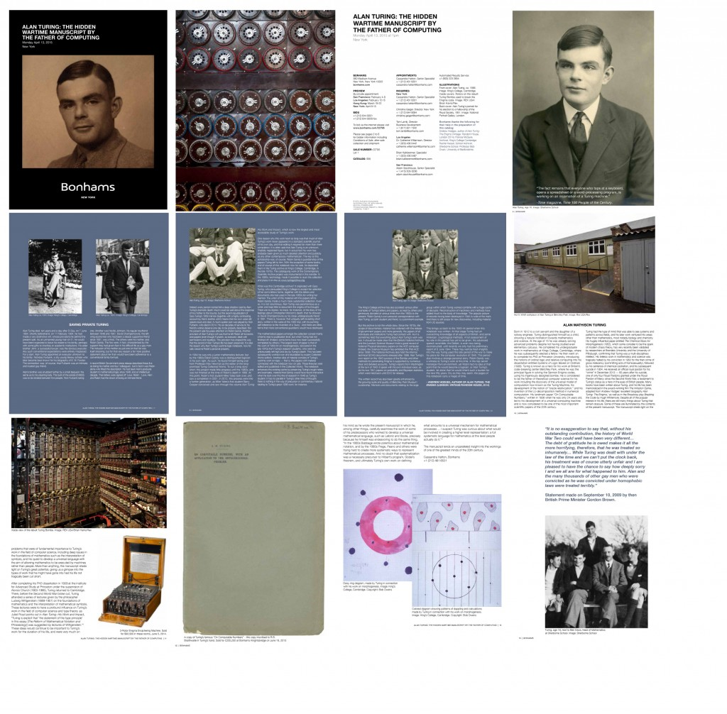 Turing Bonhams Catalog