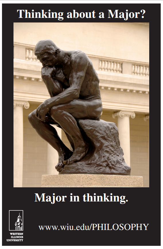 Major In Thinking WIU poster
