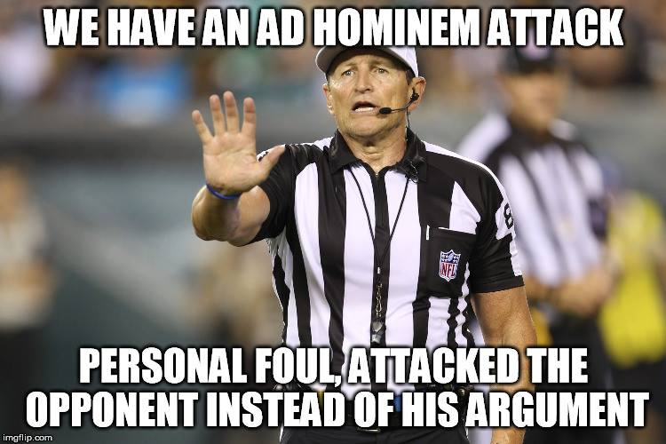 Fallacy Ref - adhominem