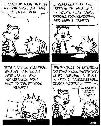 Calvin Hobbes writing academia