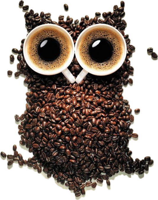 coffee owl cutout