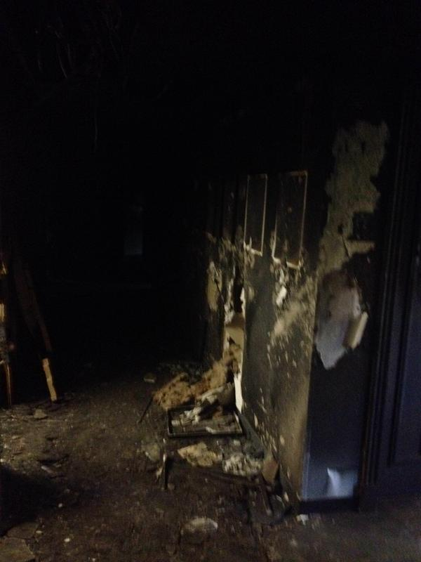 Stuart Hall Chicago fire interior 1