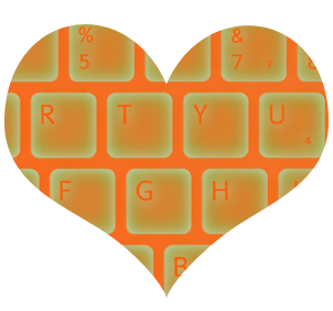 keyboard glow heart