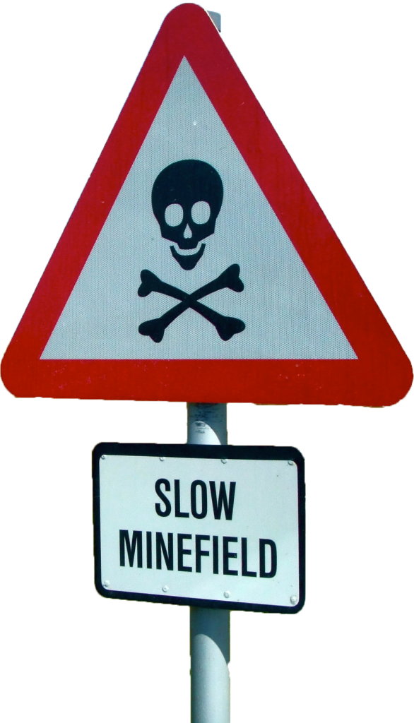 minefield sign 2