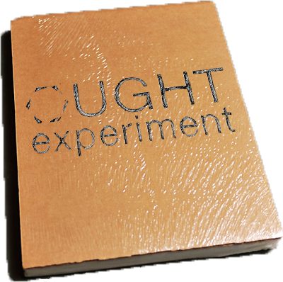 Ought Experiment book wrapped