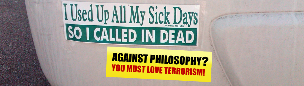 Philosophy as Anti-Terrorism Tool