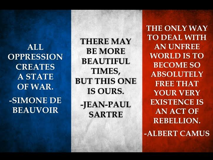 French Flag Existentialist Quotes