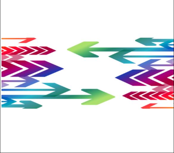 arrows colorful block