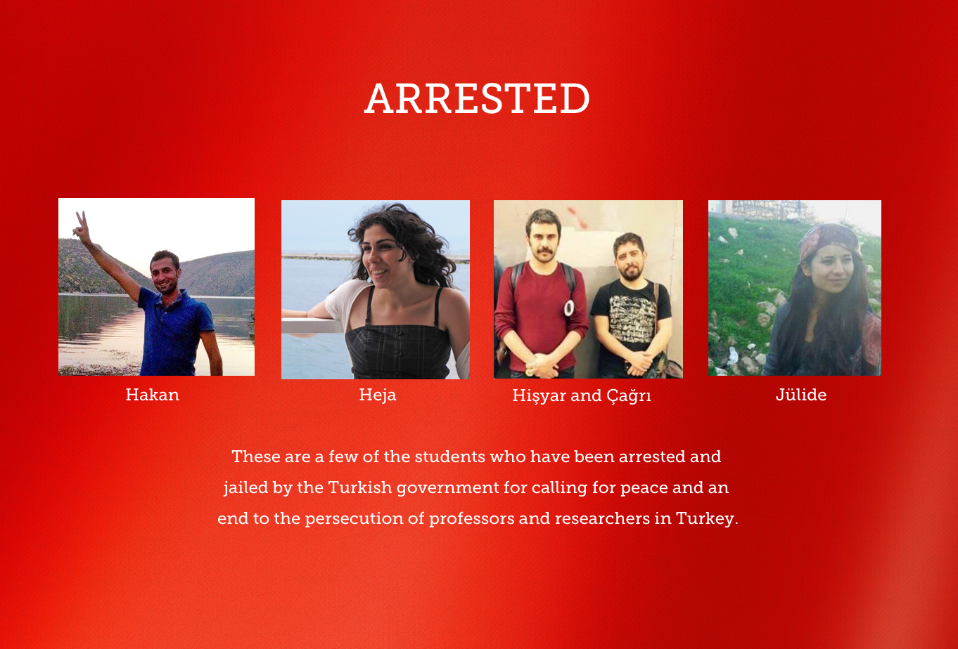 Students Arrested in Turkey