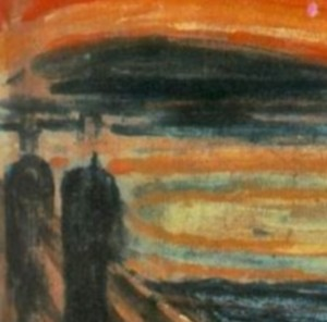 Munch - The Scream detail 2