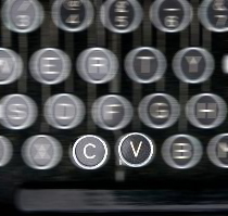 typewriter keys cv