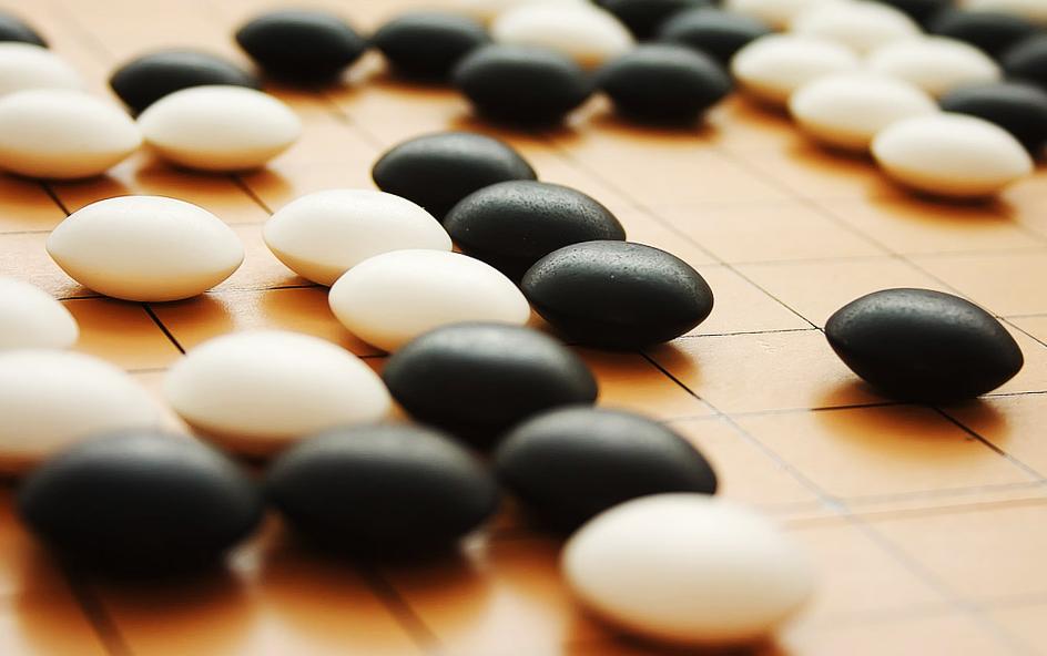 Go board stones
