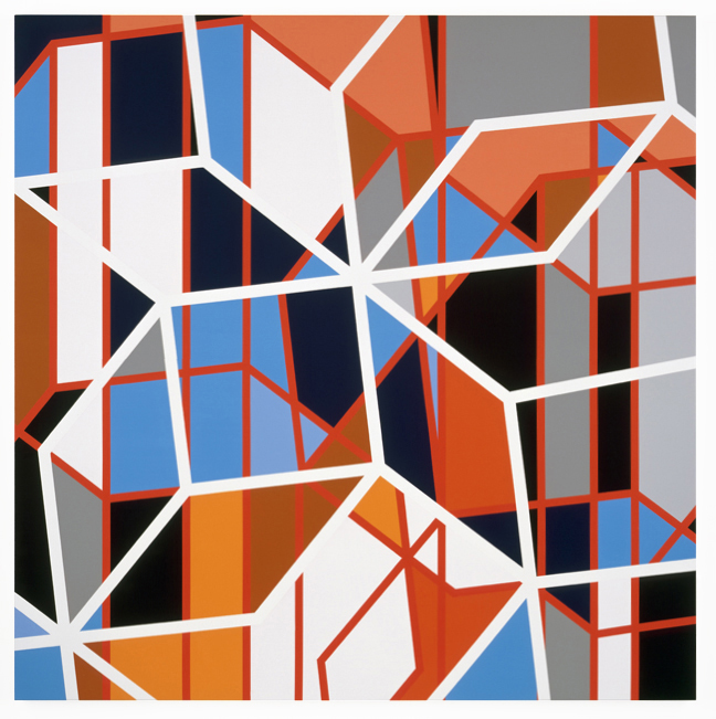 Sarah Morris Painting Cinerama Los Angeles Abstract Geometric Ar