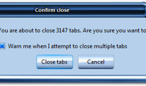 open tabs