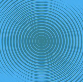 concentric blue circles