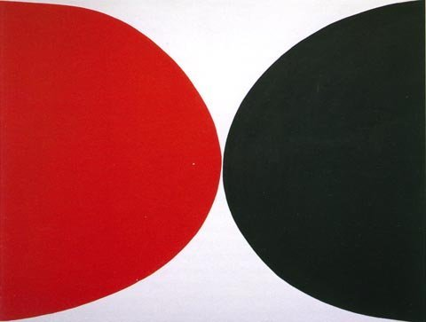 (Red, Black and White - by Terry Frost)