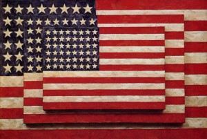 (Jasper Johns, Three Flags)