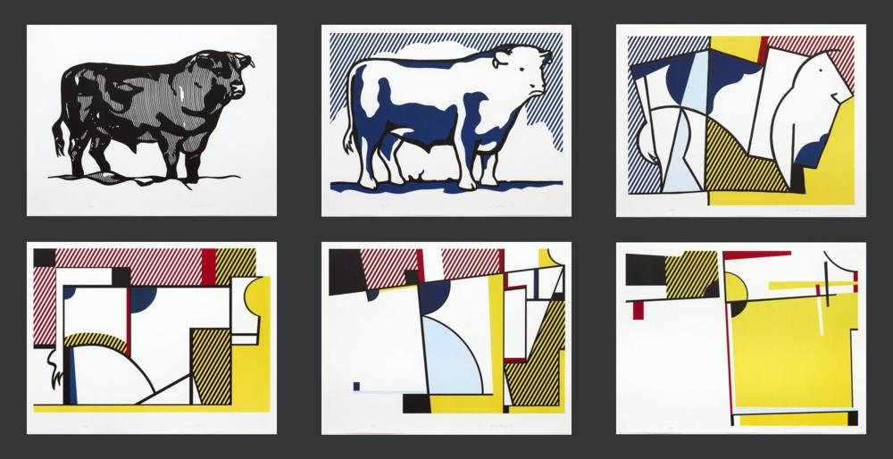 (Roy Lichtenstein, Bull I-VI)