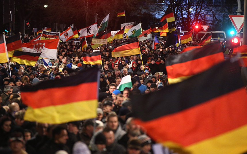Pegida Rally (photo by Sean Gallup/Getty Images)