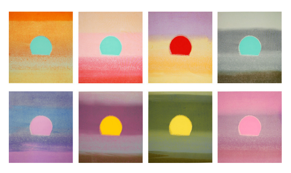 (Andy Warhol, Sunsets)