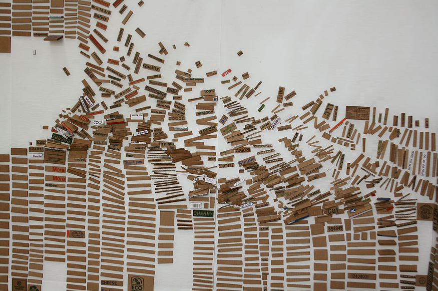 Laurie Frick - Pieces Fall Apart and Get Organized (detail)