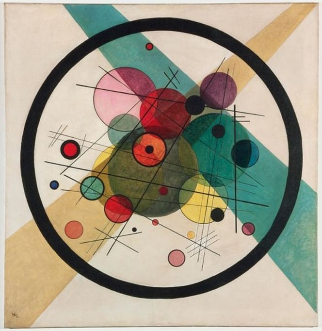 "Wassily Kandinsky, ""Circles in a Circle"""