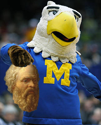 Morehead State Mascot Holding Socrates