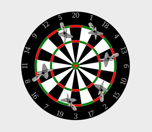 dartboard interesting misses