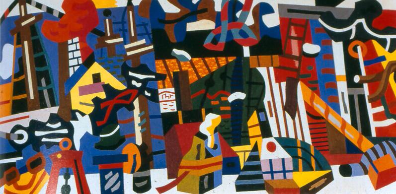"Stuart Davis, ""Swing Landscape"""