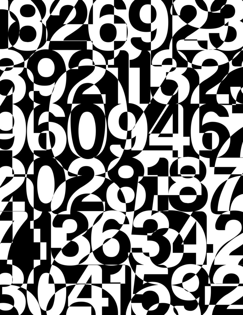 "Geoff Myers, ""Black + White Numbers"""