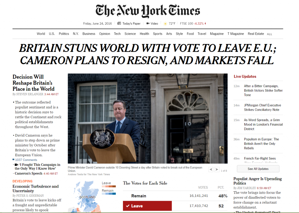 nytimes Brexit