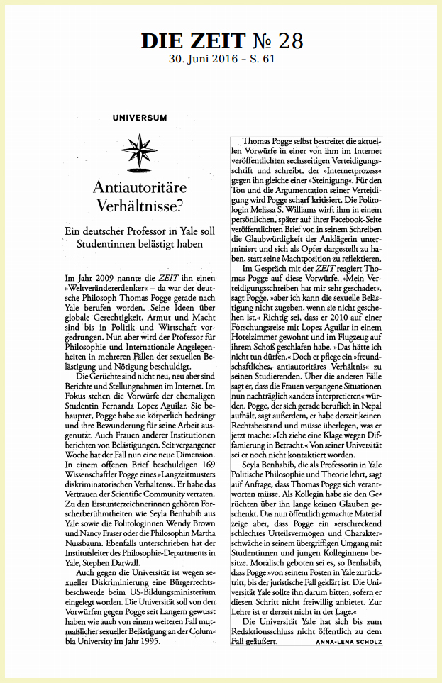 Pogge Zeit article image