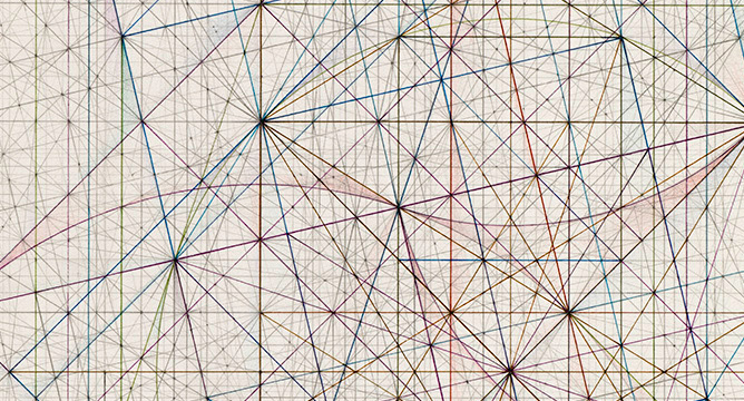 """Mark Reynolds, """"Phi Series: Root 5 Grouping, 1.15.15"""" (detail)"""