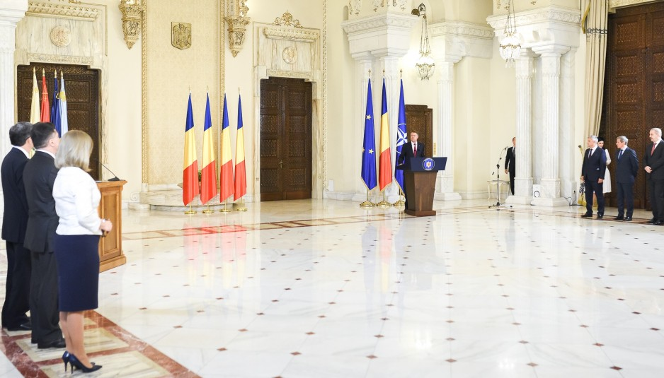 Romanian Ministers Swearing In