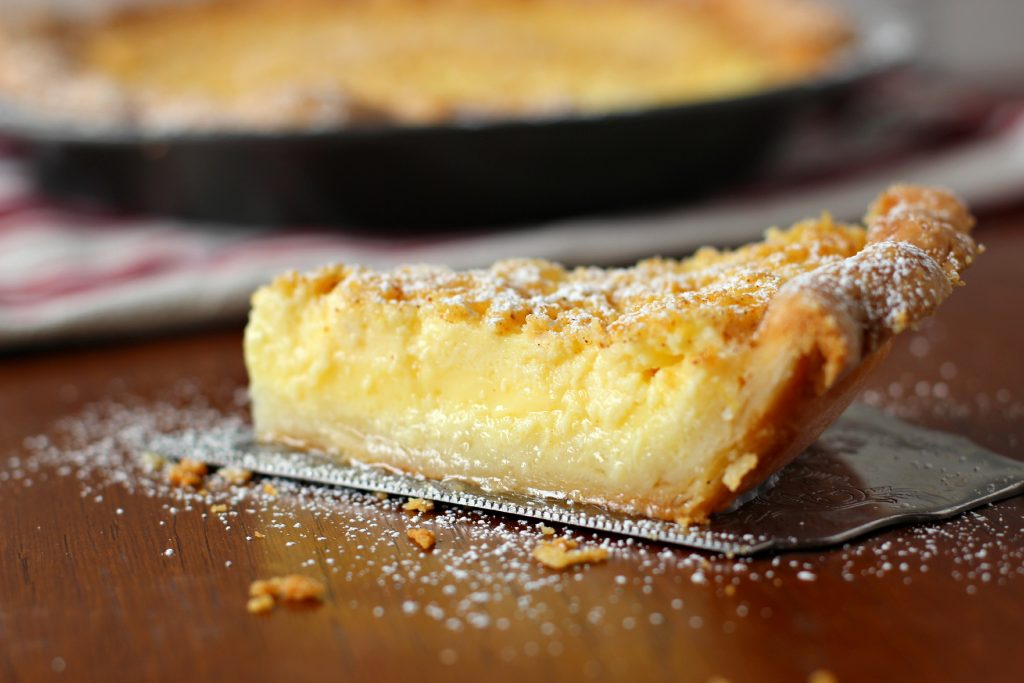 The recipe for Chmess Pie calls for one more tablespoon of butter than the recipe for Chess Pie.