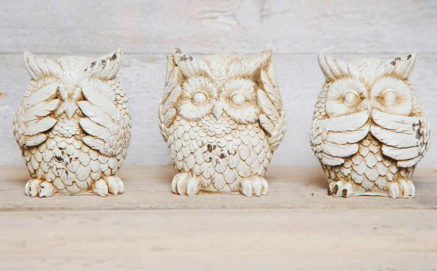 see hear speak no evil owls crop