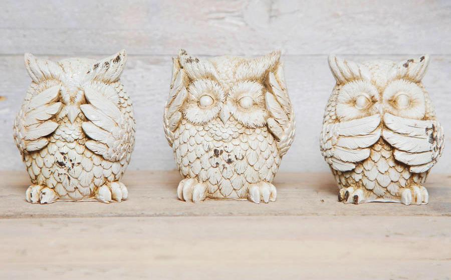 see hear speak no evil owls crop