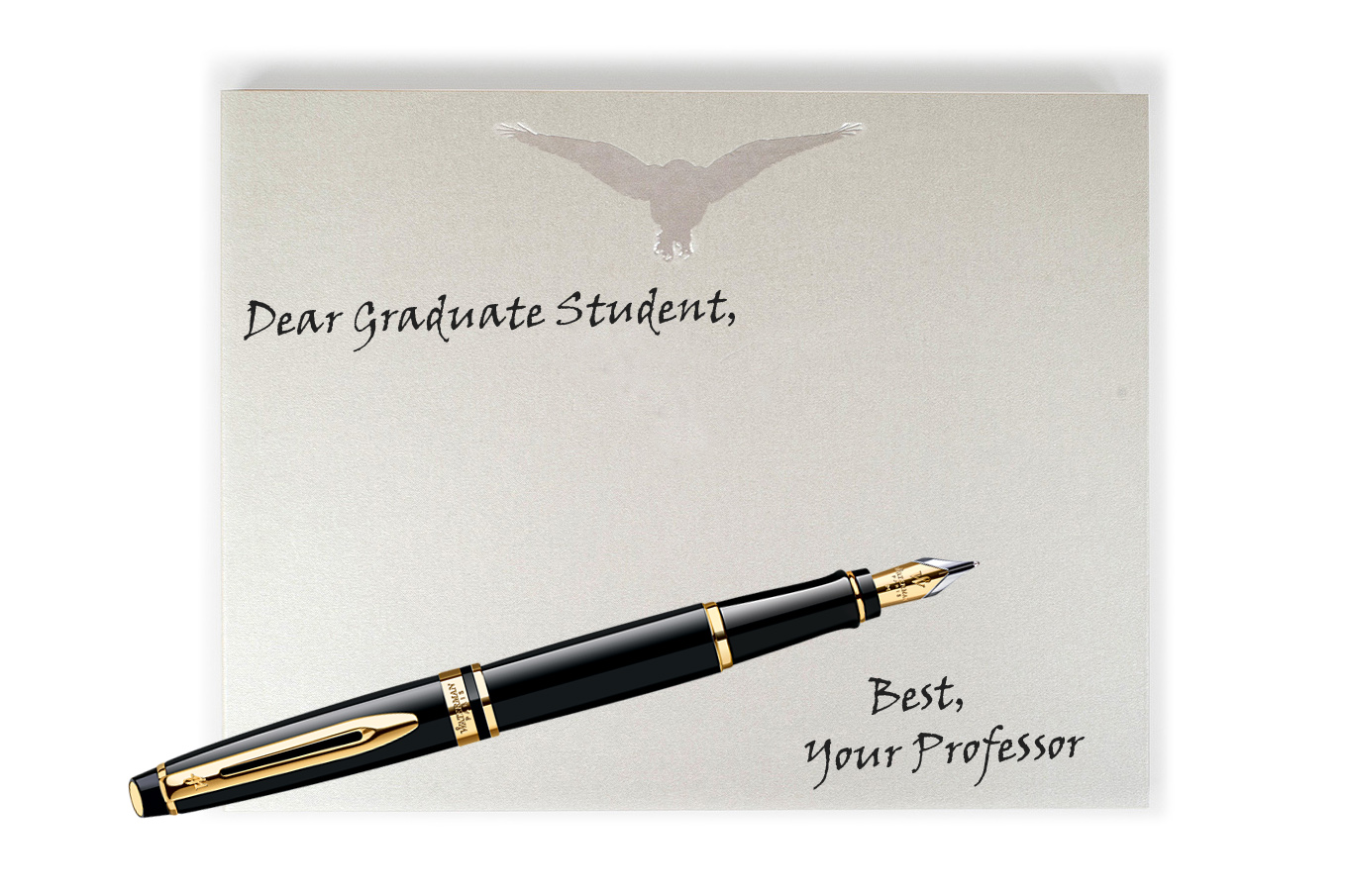 dear-grad-student-stationery-and-pen