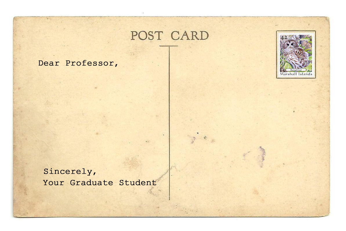 Dear Professor Post Card