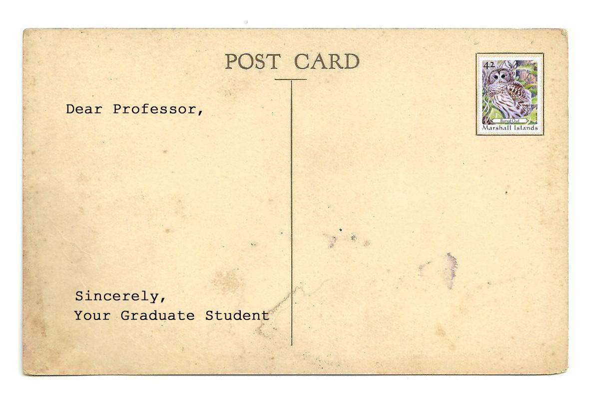 Dear Professor Post Card