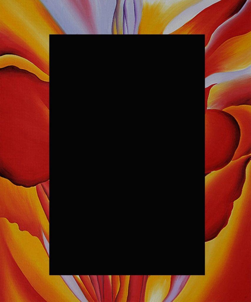 """[Georgia O'Keeffe, """"Red Canna"""" (censored)]"""