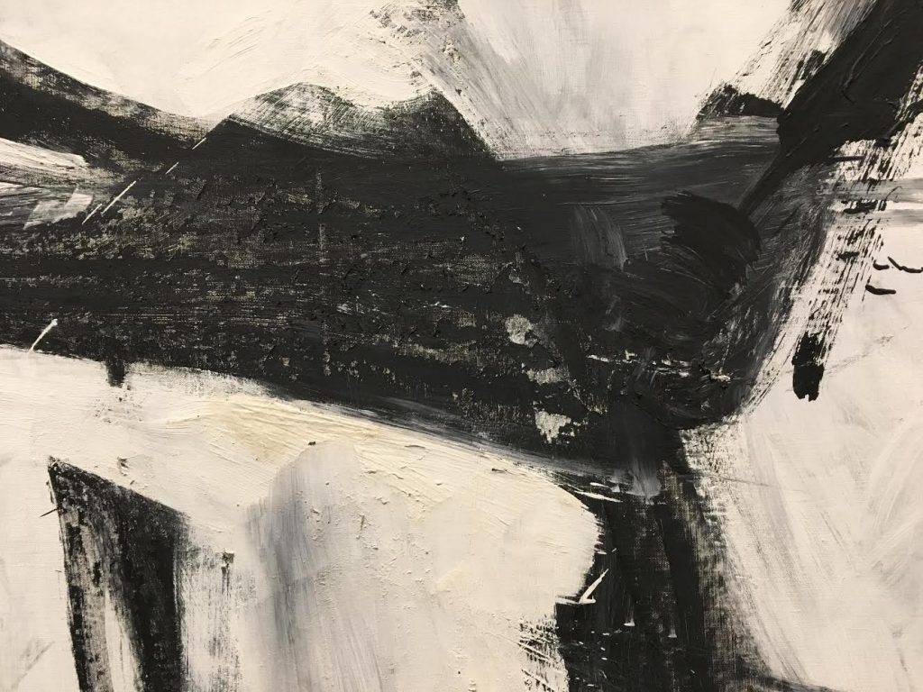 "Franz Kline, ""Pittston"" (detail)"