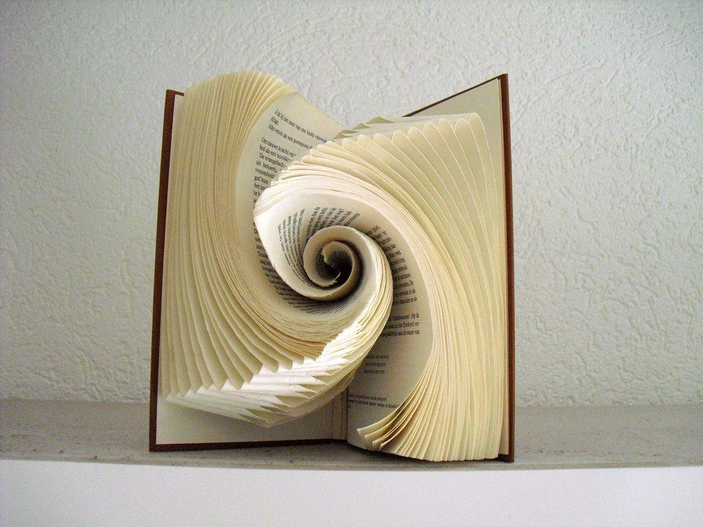 Folded Book Art by Rosy Hammersley