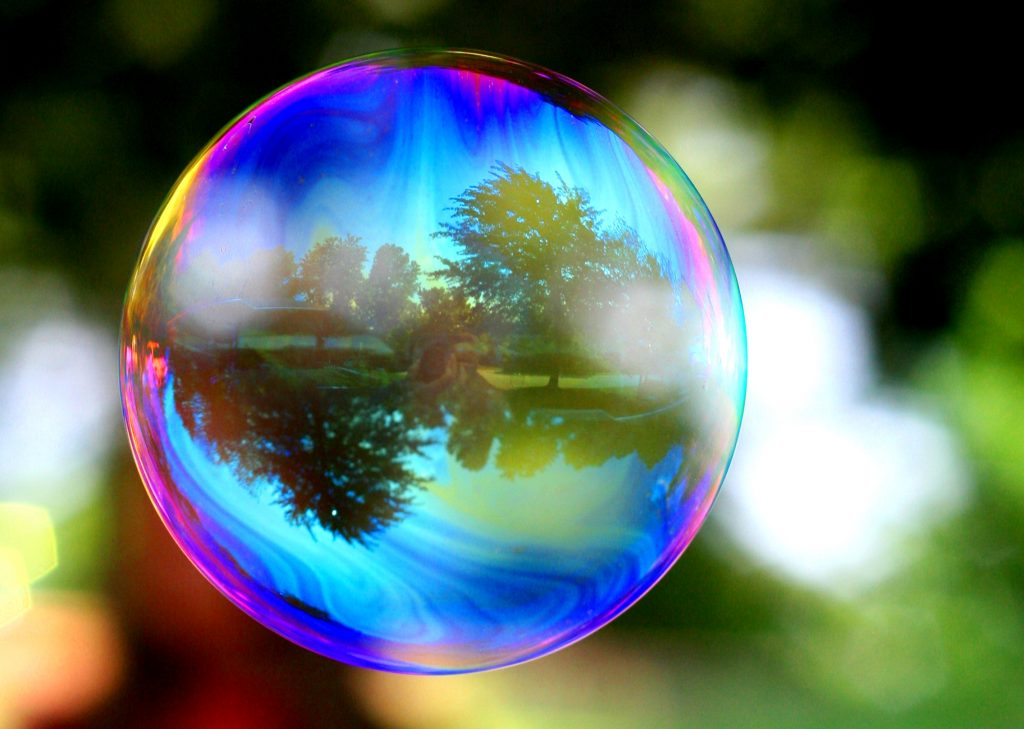 bubble-reflection