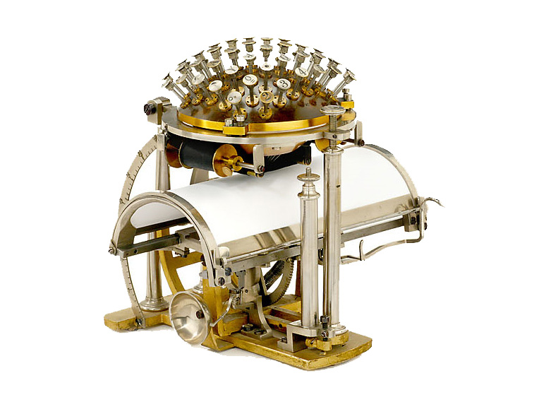 The Malling-Hansen Writing Ball, a typing device Nietzsche used for a while.
