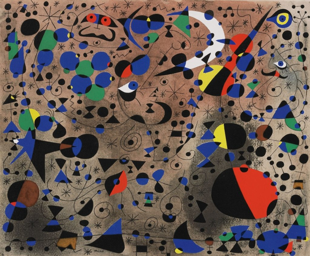 "Joan Miró, ""The Poetess"" (Constellations Series)"